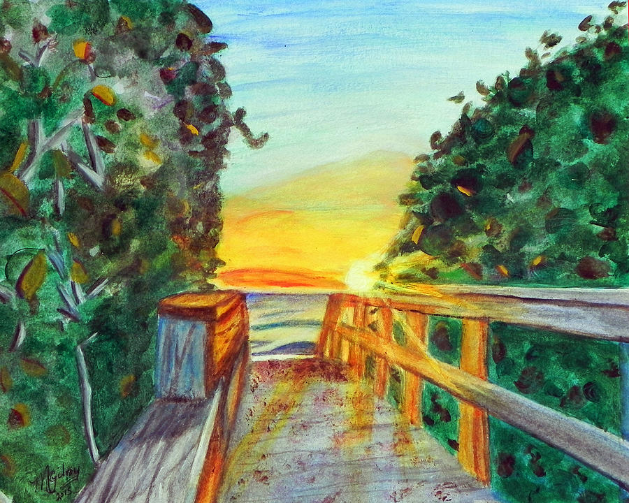 Nature Painting - ocean / Beach crossover by MGilroy