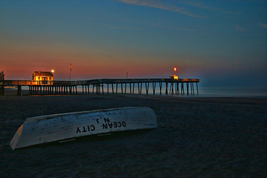 Ocean City Photograph - Ocean City  N J Sunrise by Allen Beatty