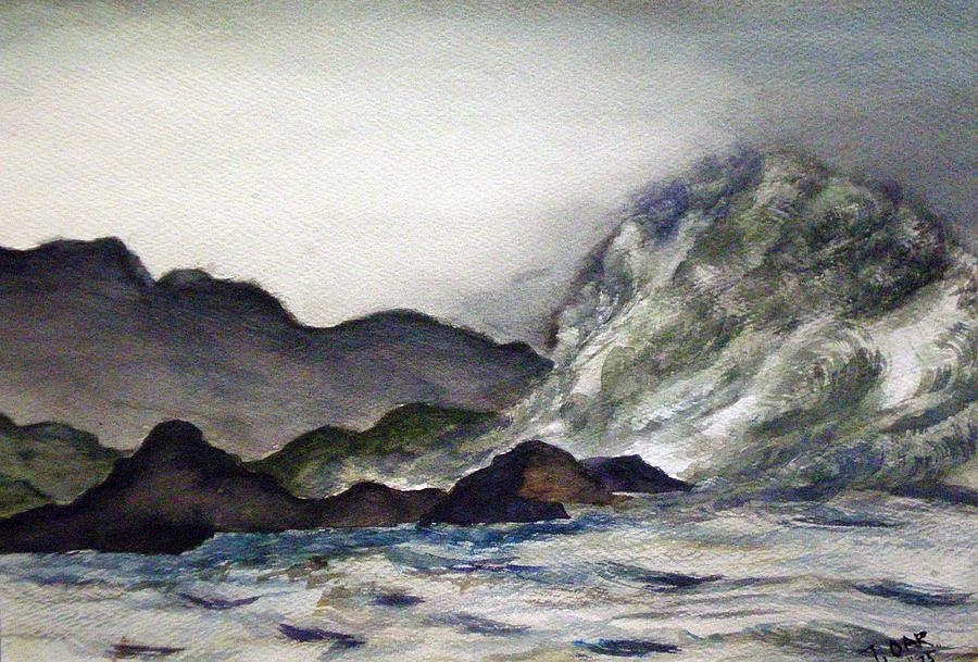 Ocean Painting - Ocean Emotion Release by Tammera Malicki-Wong