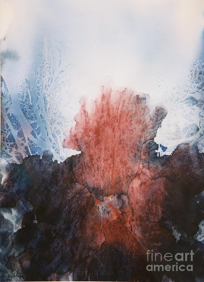 Abstract Painting - Ocean Flower by Shirley McMahon