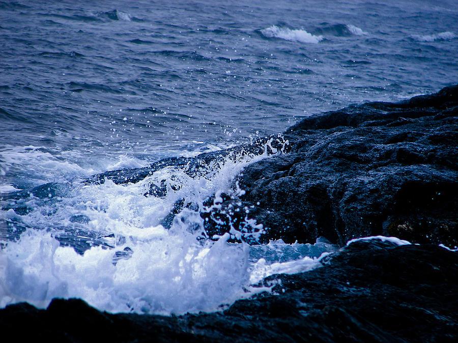 Ocean Photograph - Ocean Spray by Chrissy Gibbs