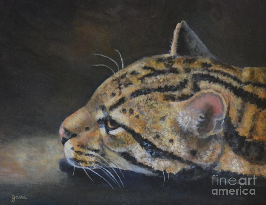 Animal Painting - Ocelot by Jana Baker