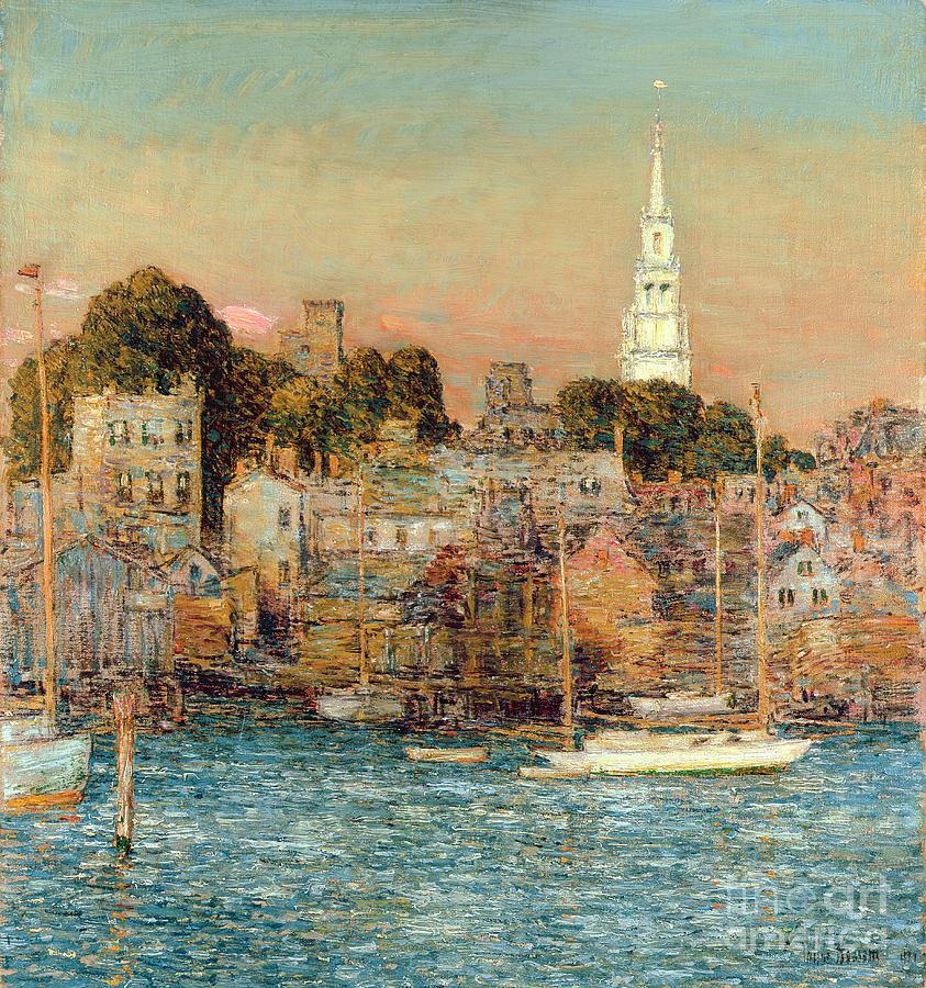 October Sundown Painting - October Sundown by Childe Hassam