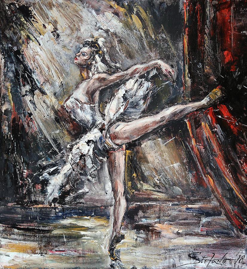Swan Lake Painting - Odette by Stefano Popovski