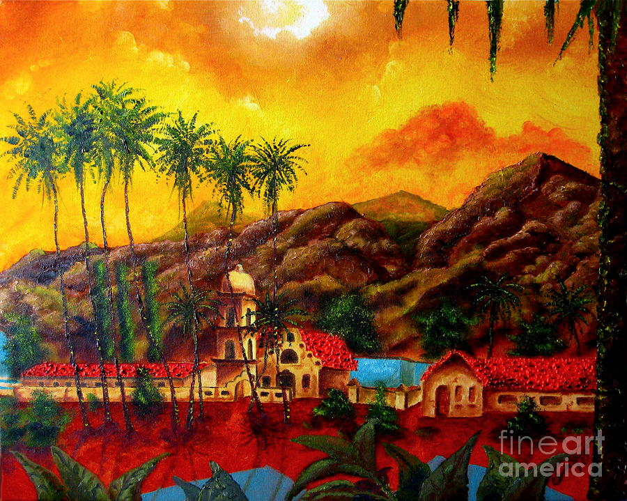 Cityscape Painting - Ojai Yellow by Chris Haugen