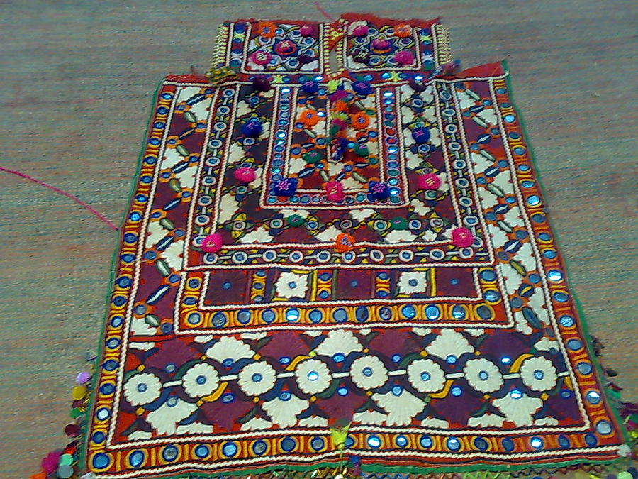 Old Dress Piece Tapestry - Textile by Dinesh Rathi
