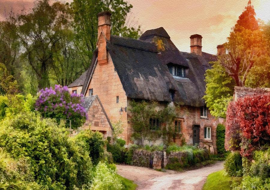 Old English Cottage At Summerfieldhurst. L B Digital Art