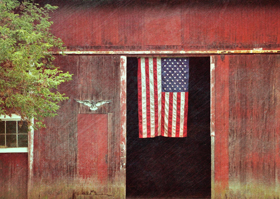 Farm Photograph - Old Glory by JAMART Photography