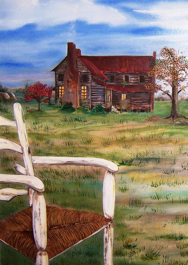 Landscape Painting - Old Home  by Penny Everhart