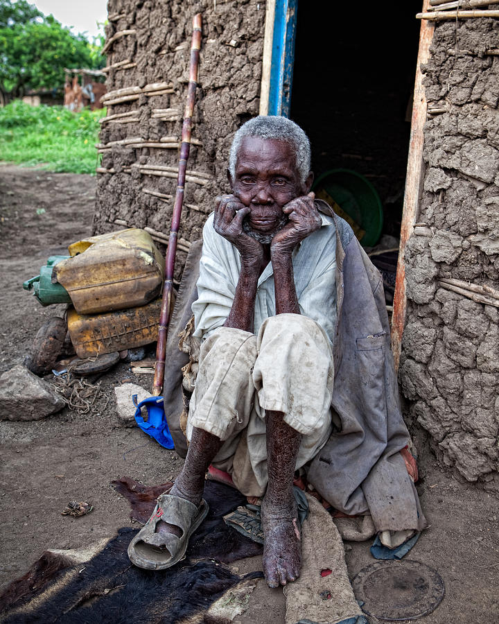 Africa Photograph - Old Man Africa by Jennifer K
