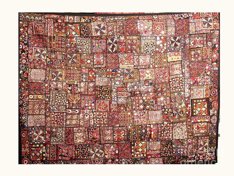 Rajasthani Patchwork Tapestry - Textile - Old Patchwork by Dinesh Rathi