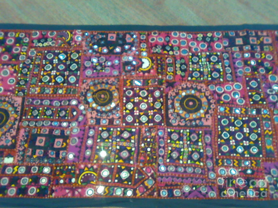 Old Bags Tapestry - Textile - Old Patchworks by Dinesh Rathi