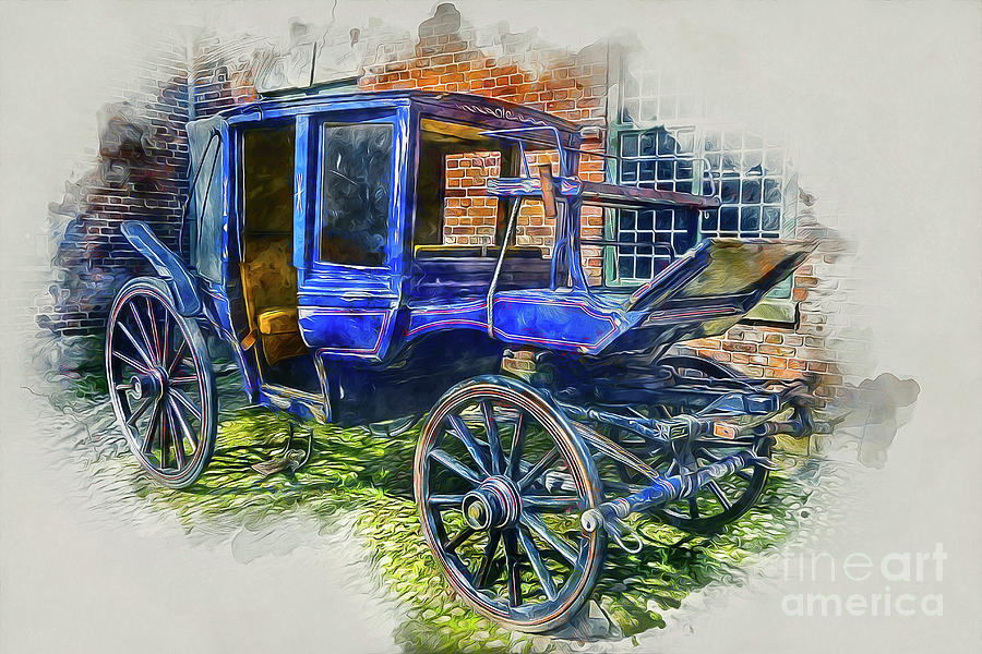 Stagecoach Mixed Media - Old Stagecoach by Ian Mitchell