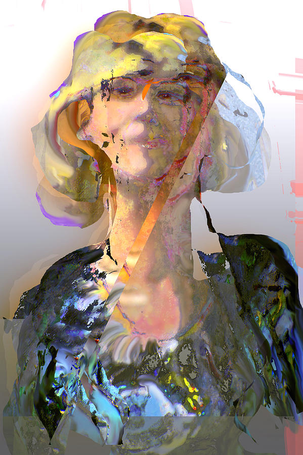 Portrait Mixed Media - Olga by Noredin Morgan