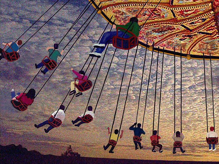 Carousel Digital Art - On The Ride by Don McAfee