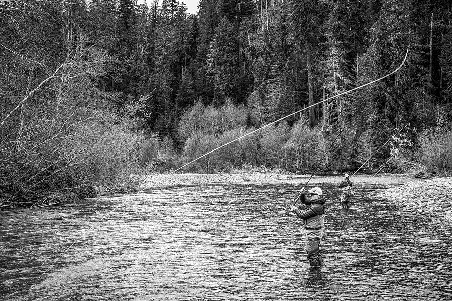 Flyfishing Photograph - On the River by Jason Brooks
