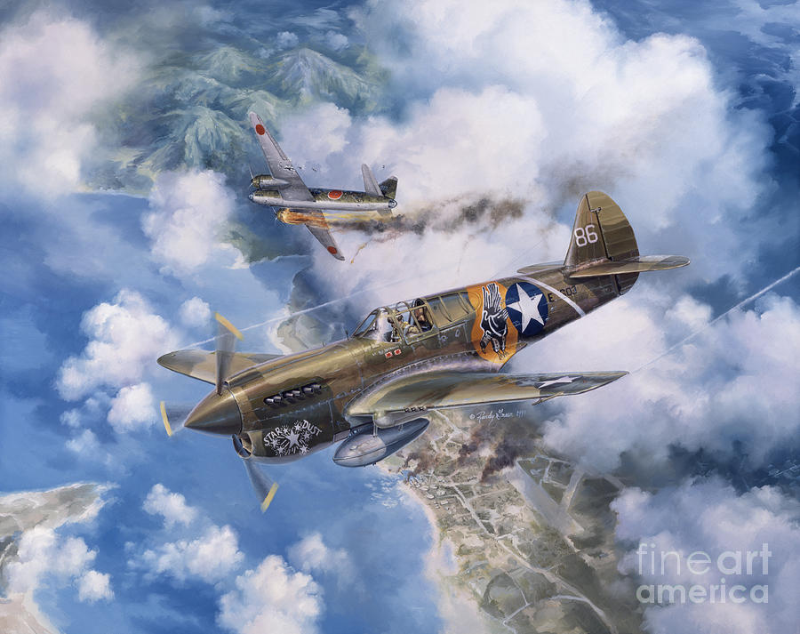 P-40 Warhawk Painting - One Off At Darwin by Randy Green