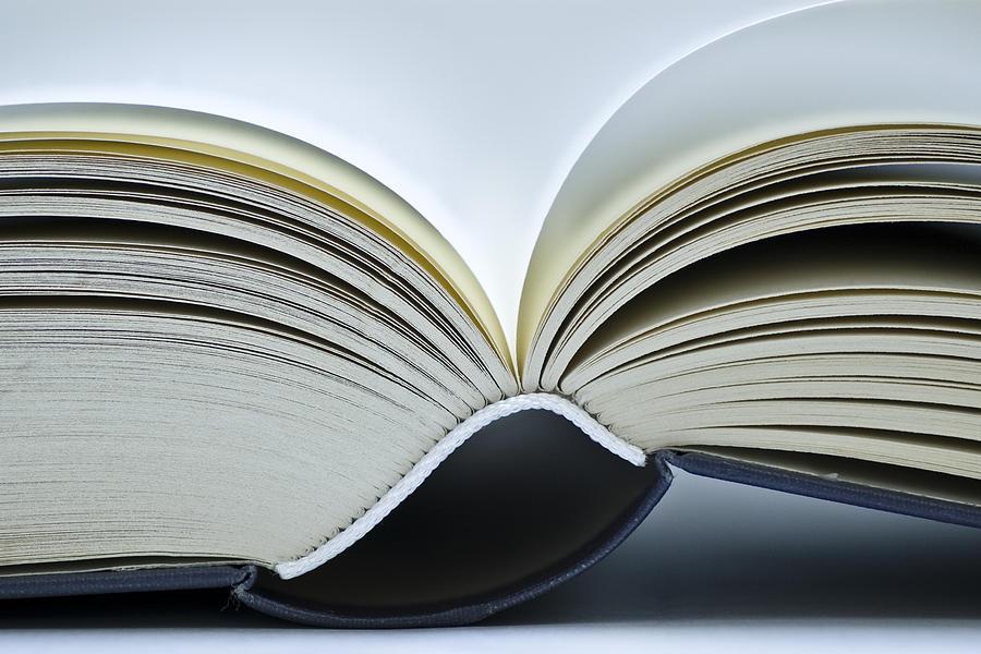 Book Photograph - Open Book by Frank Tschakert