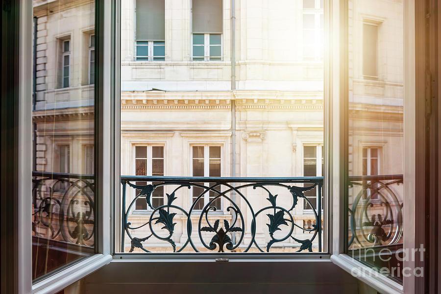 Window Photograph - Open Window In Toulouse by Elena Elisseeva