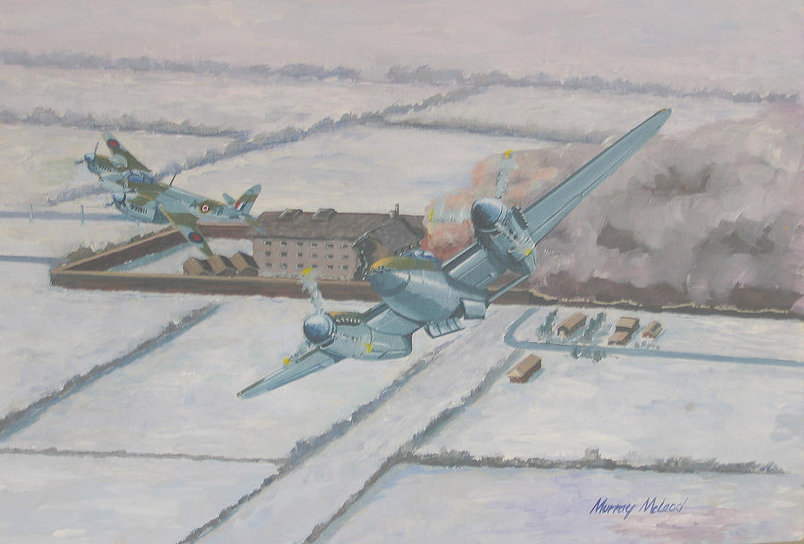 Operation Jericho  Painting by Murray McLeod