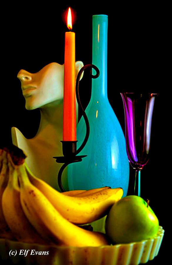 Orange Candle  by Elf EVANS
