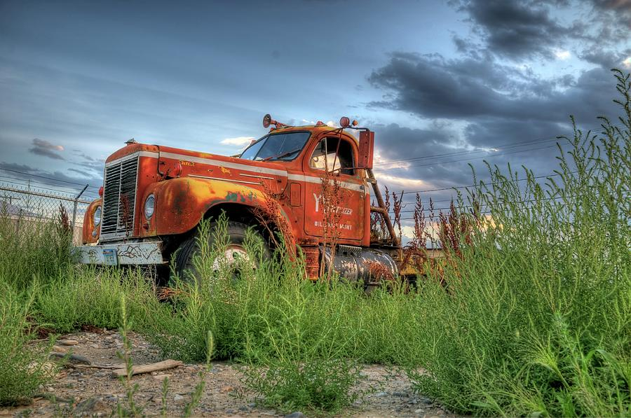 Truck Photograph - Orange Truck by Dave Rennie