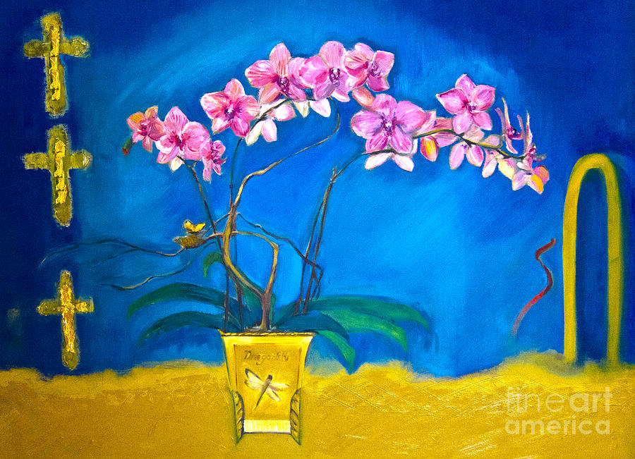 Orchid Painting - Orchid by Karen Francis