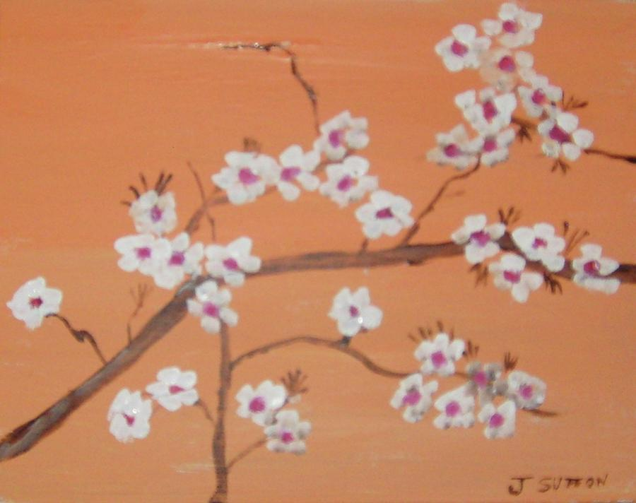 oriental flowers painting by james sutton, Beautiful flower
