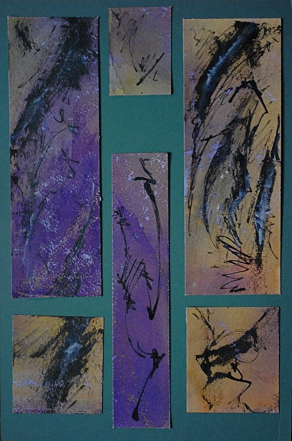 Abstraction Painting - Oriental Screen by Chris  Riley