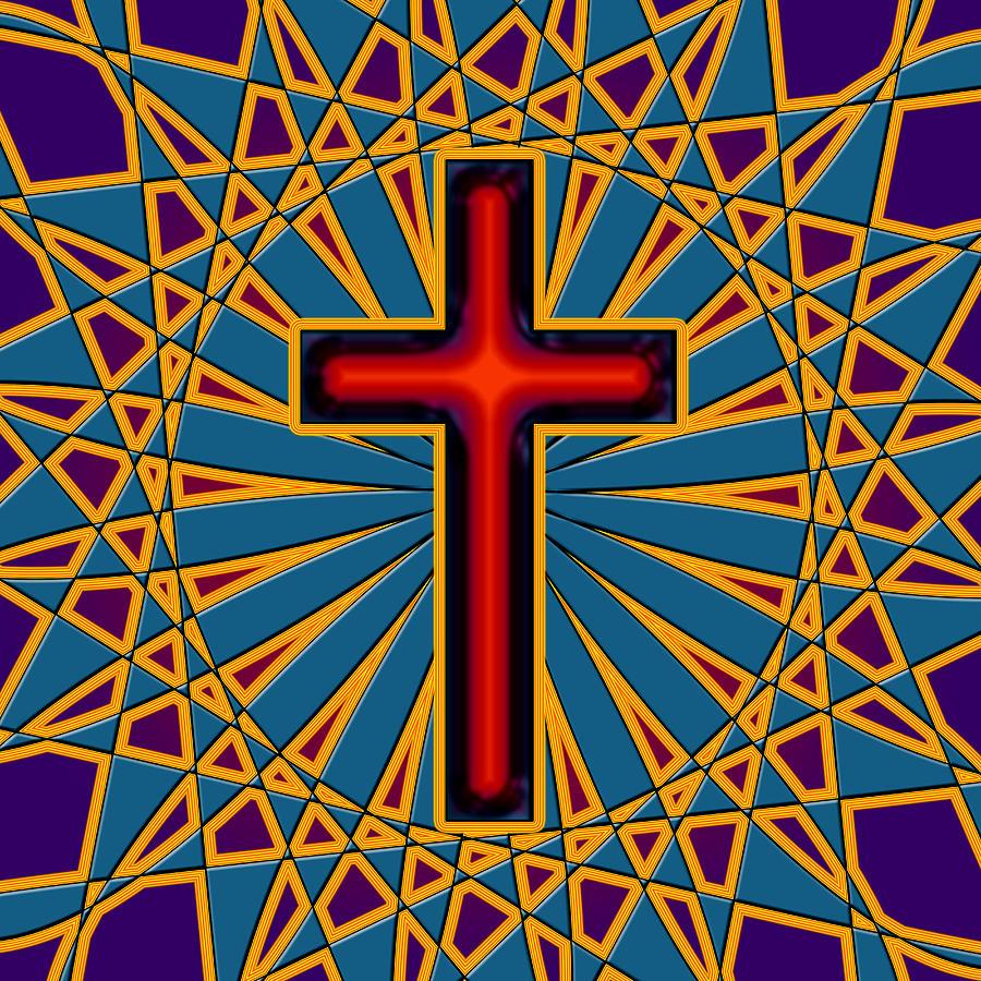 Ornamental Cross Digital Art by David G Paul