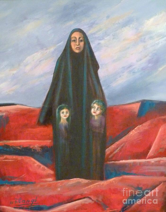 Orphans Painting - Orphans by Ushangi Kumelashvili