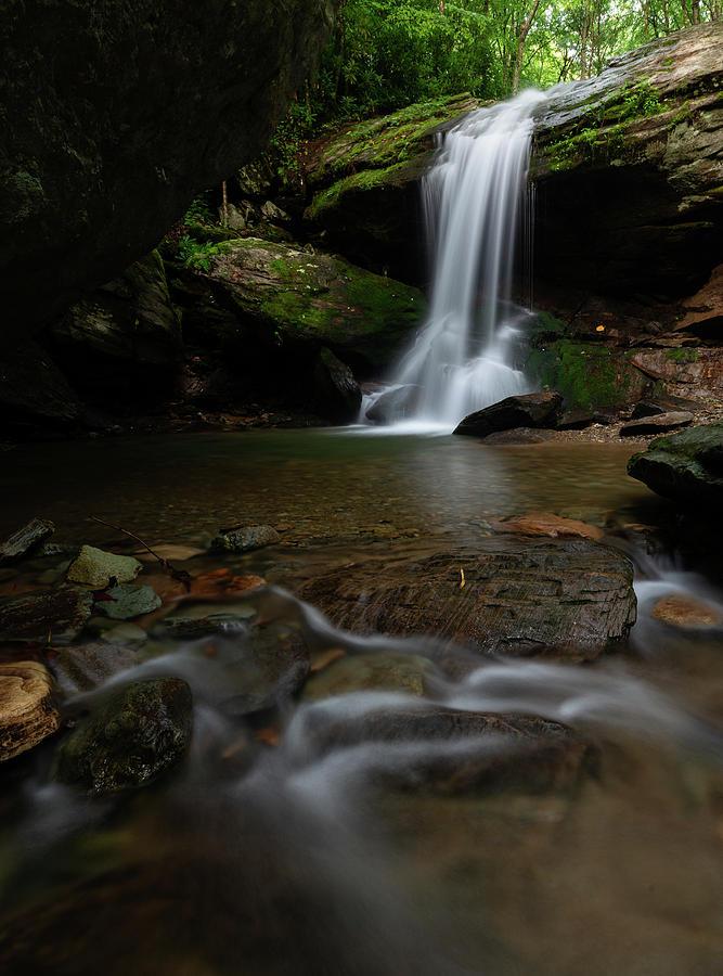 Otter Falls Photograph - Otter Falls - Seven Devils, North Carolina by Mike Koenig