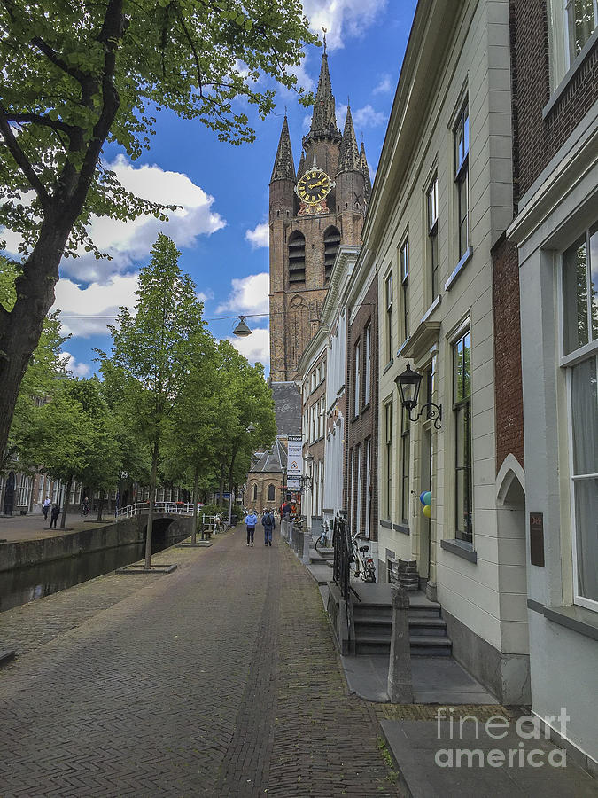 Delft Photograph - Oude Kerk In Delft by Patricia Hofmeester