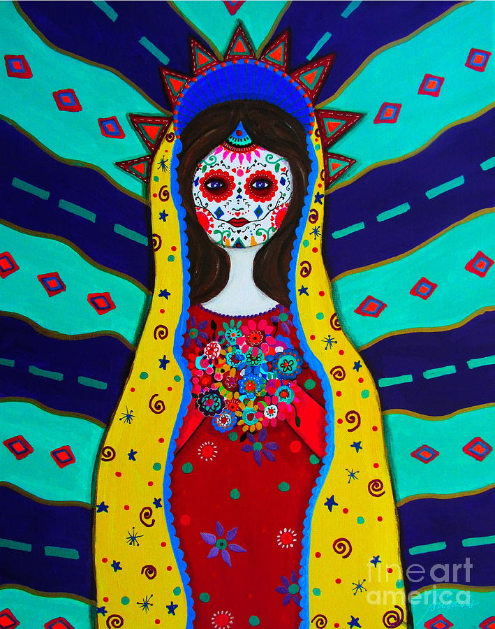 Mexican Painting - Our Lady Of Guadalupe by Pristine Cartera Turkus