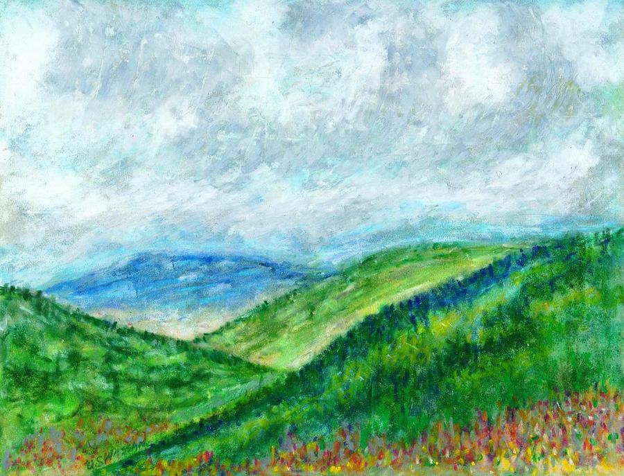 Landscape Painting - Overlook Near Dillard Ga by Ujjagar Singh Wassan