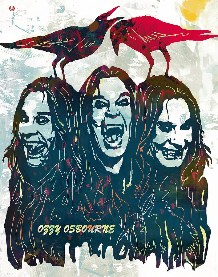 Ozzy Osbourne Pop Stylised Art Poster