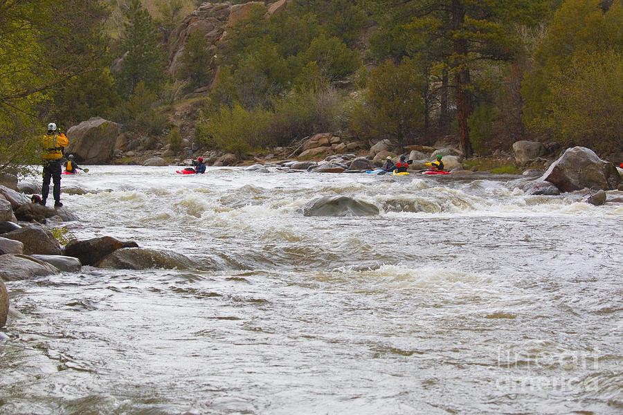 Paddlefest On The Arkansas River In Buena Vista Colorado Photograph