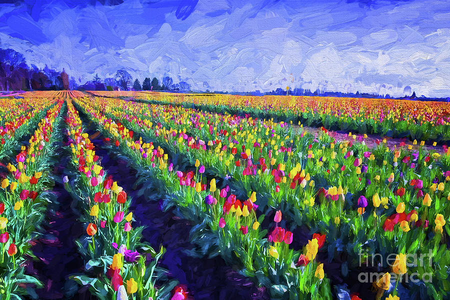 Painted Tulips by Billie-Jo Miller