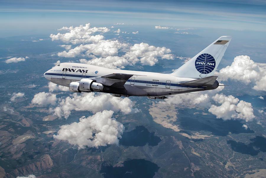 Pan American World Airways Mixed Media - Pan Am Clipper New Horizons by Erik Simonsen