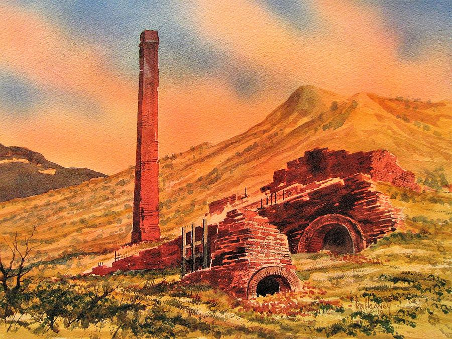 Ghost Town Painting - Panamint City Ghost Town California by Kevin Heaney