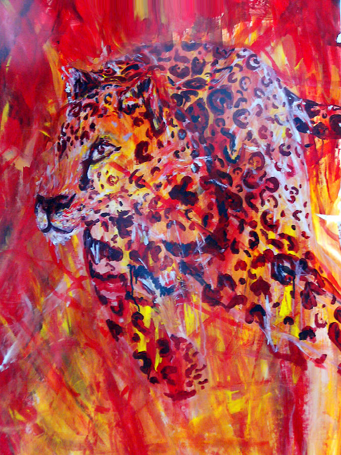 Panther Painting - Panther by Anne Weirich