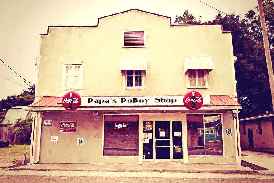 Napoleonville Photograph - Papas Poboy Shop by Scott Pellegrin