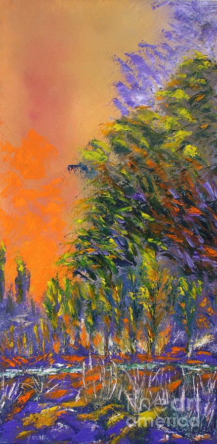 Paradise Aflame Painting by Ellen Young