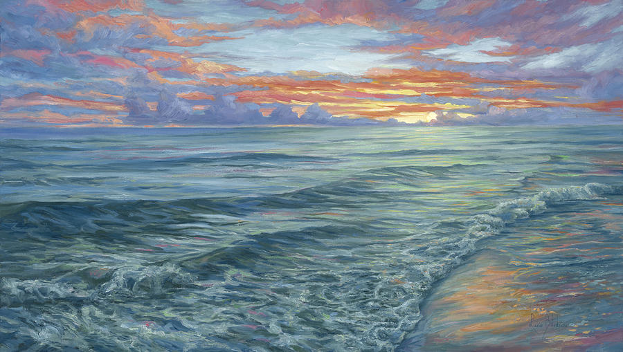 Beach Painting - Paradise Sunset by Lucie Bilodeau