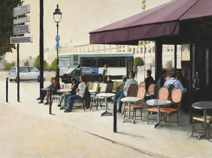 Paris cafe by Tate Hamilton