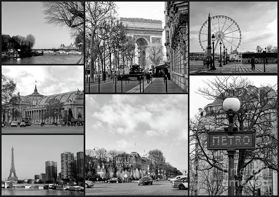 Paris Collage Photograph By Lynn Bolt