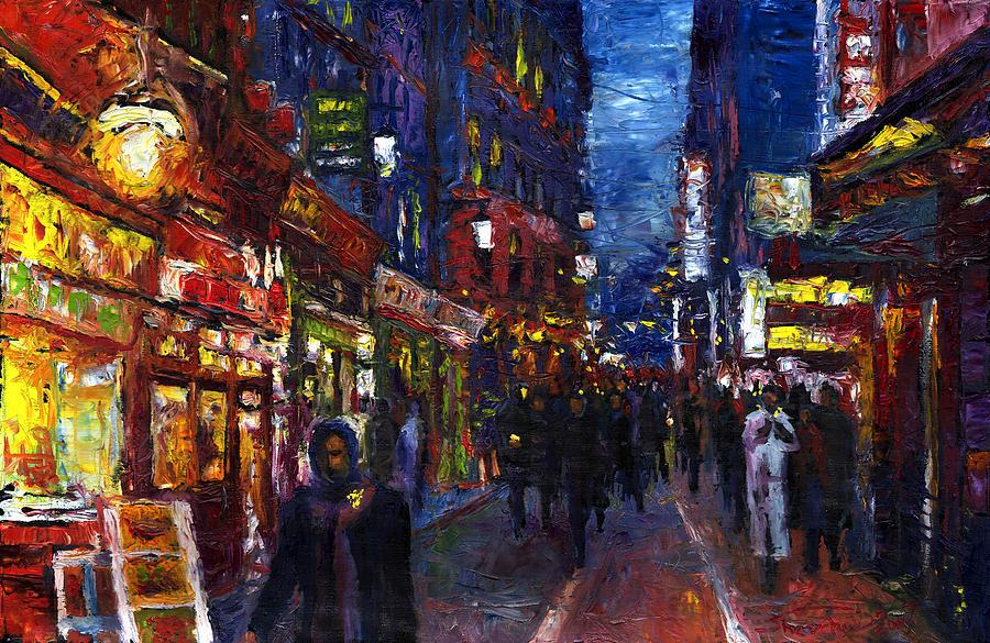 Oil Painting - Paris Quartier Latin 01 by Yuriy Shevchuk