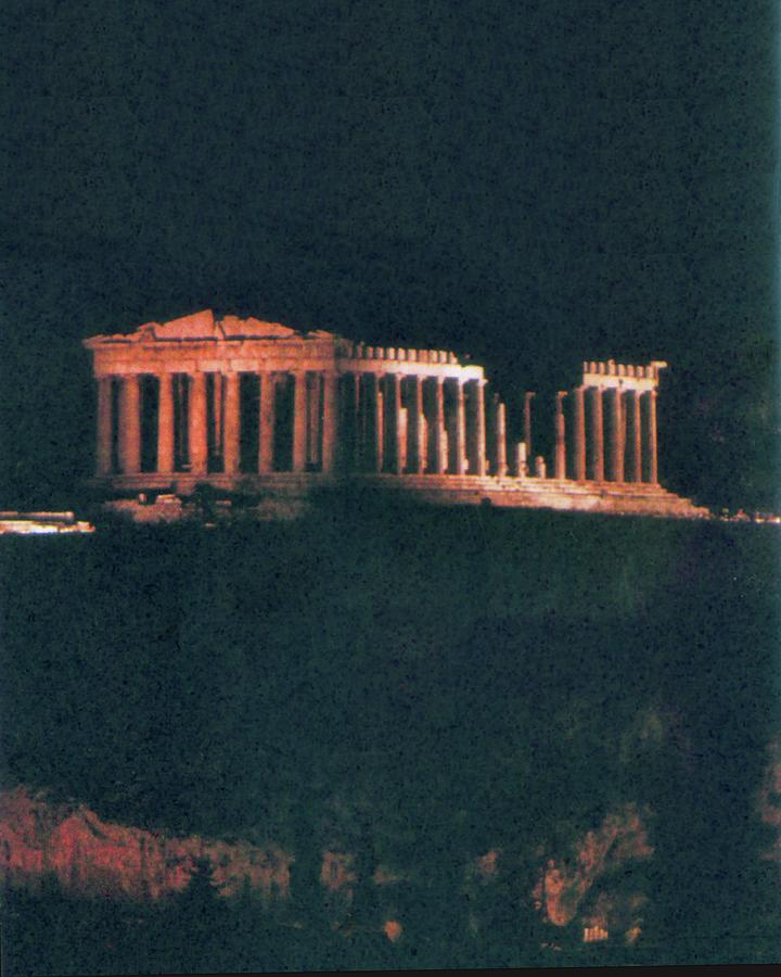 Parthenon At Night by Troy Caperton