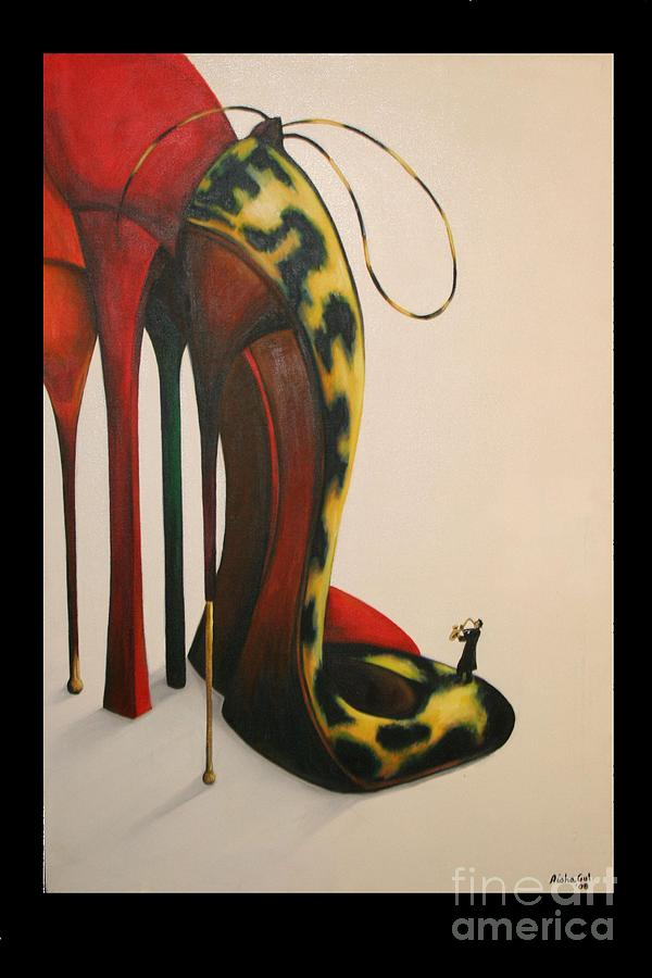 Shoes Painting - Passion by Aisha Gul