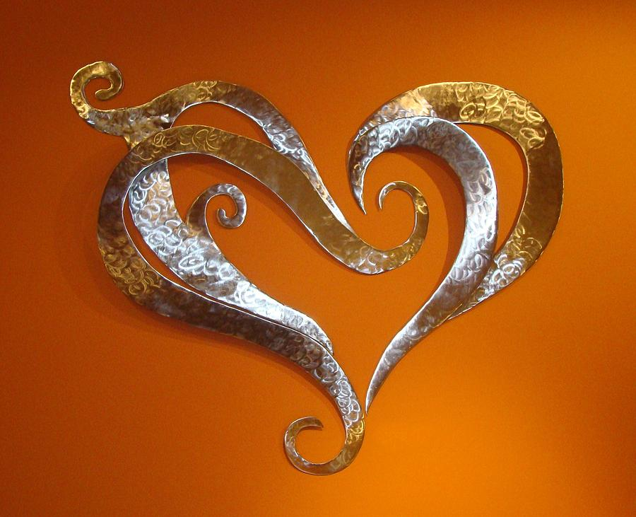 Hearts Sculpture - Passion Hearts by Diane Snider